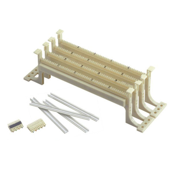 100 Pairs 110 Terminal Block Wall Mounted Wiring Block Patch Panel For Telecommunication