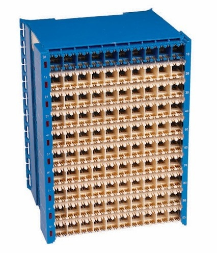 Silver Printed MDF Main Distribution Frame 100 Pairs Protection Connection Terminal Block