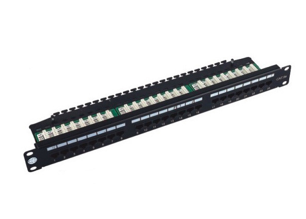 "Cold Roll Steel 19"" 24 Port Rack Mount Patch Panel Cat5e Krone IDC UTP Shielded"