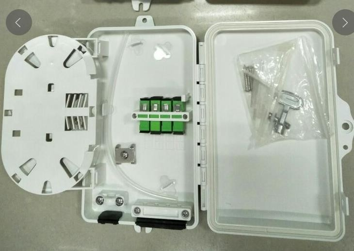 ABS FTTH System Fiber Distribution Box With Key 4 Core 4 Port 205*135*40mm