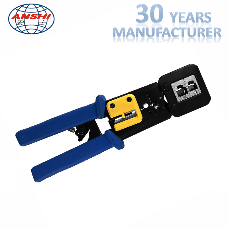 8P6P Network Punch Down Tool Modular Crimping Plier EZ RJ45 SGS Certification