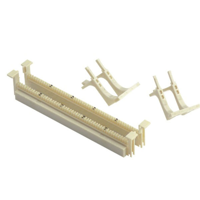 ประเทศจีน 50 Pair 110 Block Patch Panel , Wall Mounted 110 Wiring Block With Legs โรงงาน